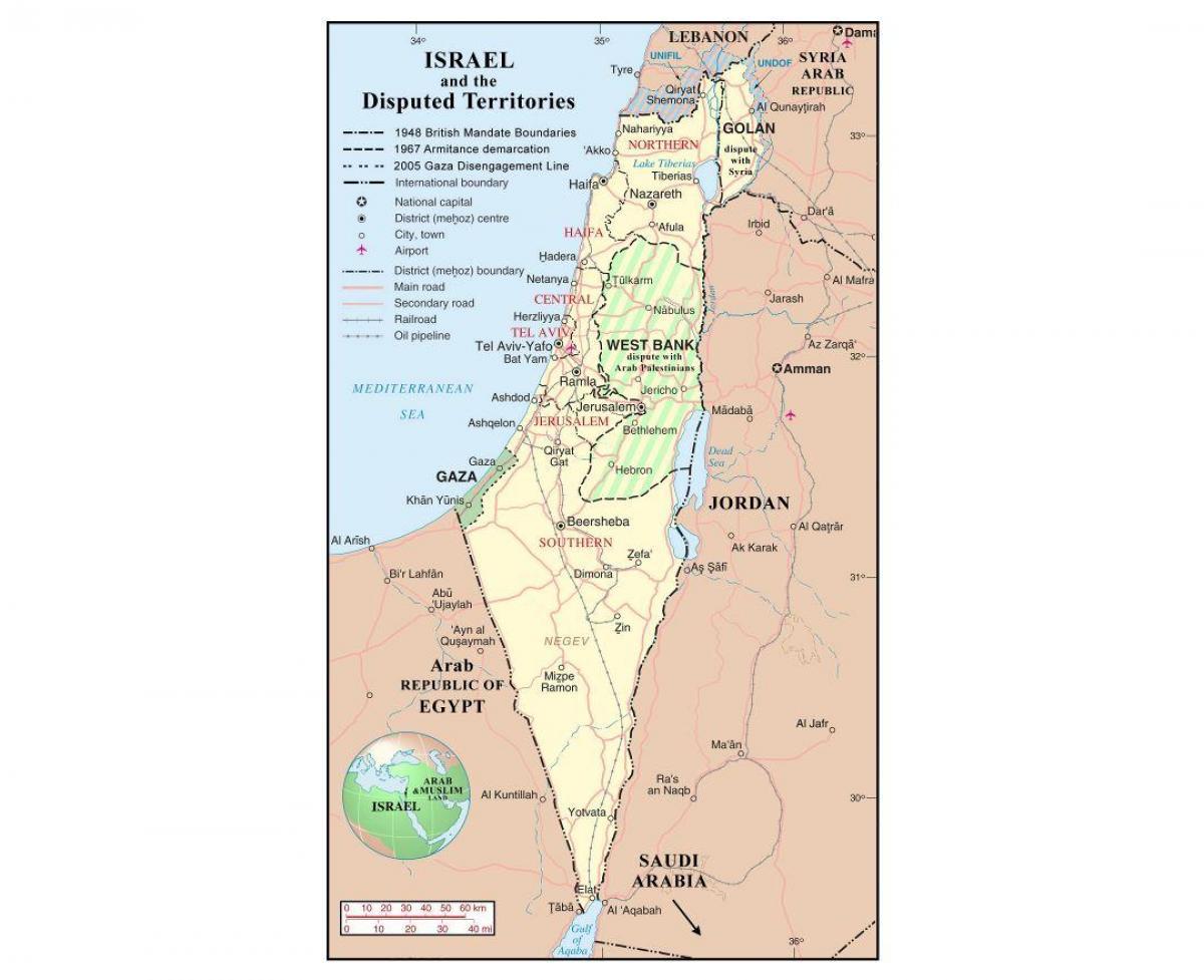 Israel Lufthavne Kort Kort Over Israel Lufthavne Det Vestlige