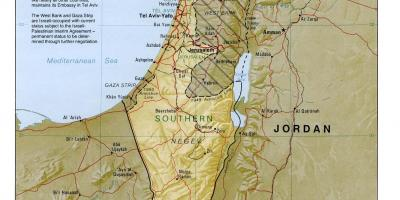 Israel Kort Kort Israel Det Vestlige Asien Asien